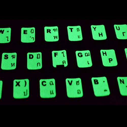 Lichtgevende Thaise Toetsenbord Stickers Toetsenbord Membraan Laptops Universele Wortel Tafel Letter Stickers