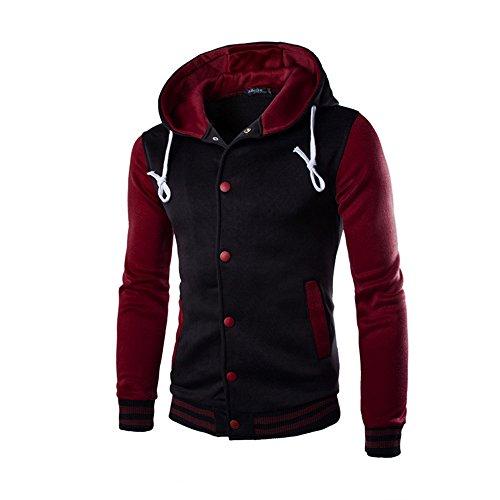 Heren sweatjas met capuchon Slim Fit hoodie cardigan jas met lange mouwen vrije tijd capuchon hoodie sweatshirt outwear sport stijl casual gebreide jas mantel