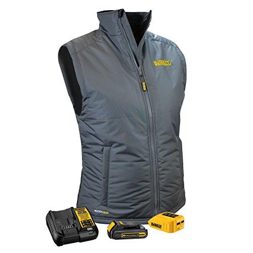 DEWALT DCHVL10C1-M Women's Heated Quilted Vest, Gray, Medium
