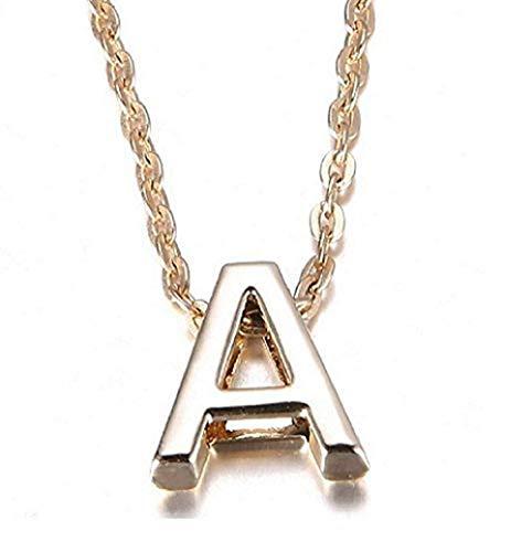 Naam ketting - letter - alfabet - initiaal - goudkleur - cadeau-idee - moederdag - valentijnsdag