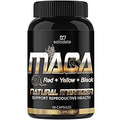 Maca Root,Red, Yellow,Black 1900MG,Supports Ene...
