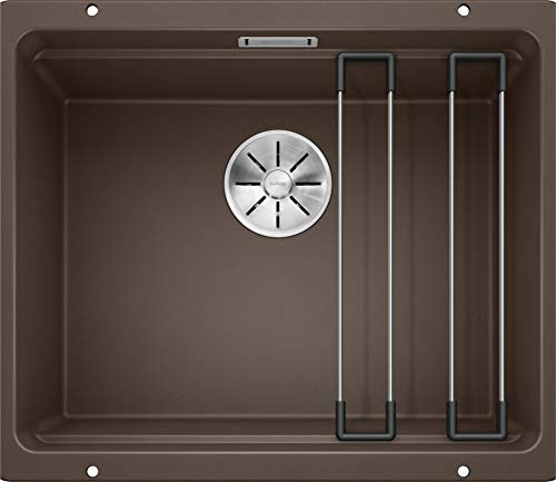 BLANCO ETAGON 500-U – Granitspüle aus SILGRANIT für die Küche für 60 cm breite Unterschränke – Unterbau – braun – 522236