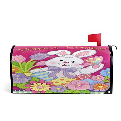 Wamika Spring Happy Easter Holiday Boîte aux Lettres magnétique Motif Lapin Rose Taille Standard 51 x 46 cm 52.6x45.8cm Multicolore