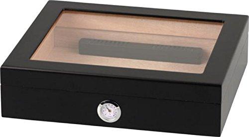 HUMIDORO Humidor für 25 Zigarren - Glasdeckel - Außenhygrometer