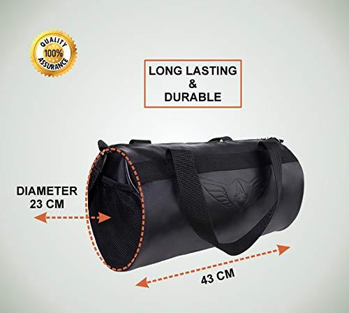 AUXTER Blacky Leatherette Gym Bag