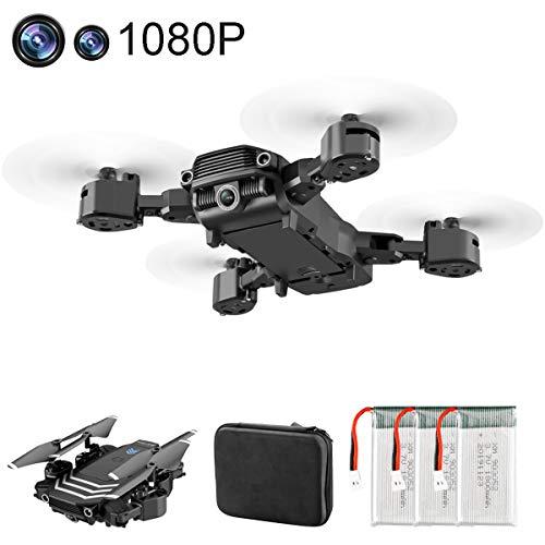 APJS Drone Foldable para Niños y Principiantes con Control Remoto Plegable RC Selfie Quadcopter RTF, Cuadricóptero Portátil FPV 4K/1080P Vídeo en Vivo, Modos de Velocidad, 60 Minutos,4K