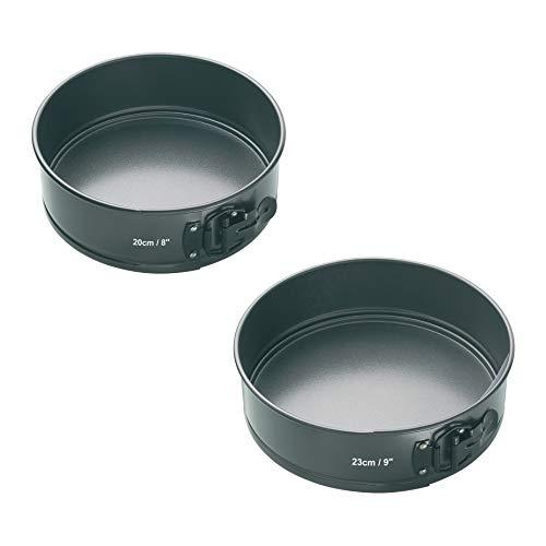 Masterclass Non-stick Springform Round Cake Tin Set, 20cm (8') & 23cm (9')