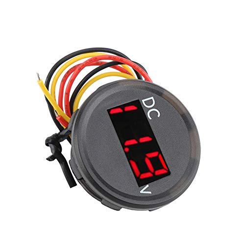 KIMISS DC 0-100V Digitaler Spannungsmesser Voltmeter LED Panel Display für Auto Motorrad Wasserdicht