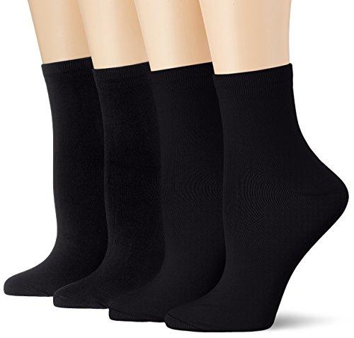 Dim Socquette Skin 3+1 Gtt Calcetines, Negro (Noir/Noir/Noir/Noir), Talla única (Talla del fabricante: TU) (Pack de 4) para Mujer