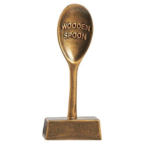 Wooden Spoon Trophy, Small Resin Award Trophy - 16x 2.5cm x 6cm