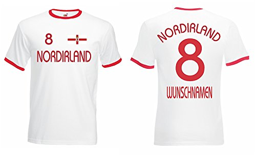 World-of-Shirt Herren Retro T-Shirt Nordirland Trikot EM 2016 Weiss-XL