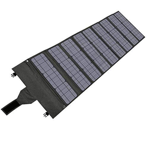 Hypowell ソーラーパネル ソーラーチャージャー 太陽光パネル 単結晶 120W 折りたたみ式 DC/USB出力 type-C 急速充電 QC3.0搭載 10種類DCプラグ IP65防水 収納便利 超薄型 軽量 コンパクト(120W/18V/6.66A)
