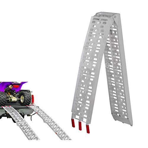 WXJ Aluminum Ramps Folding Loading Ramps 226x28x5cm | 340kg Capacity Heavy-Duty | Used for Loading Motorcycles, ATVs, Dirt Bike, Lawn Mowers, Snowblower, Pet Ramp