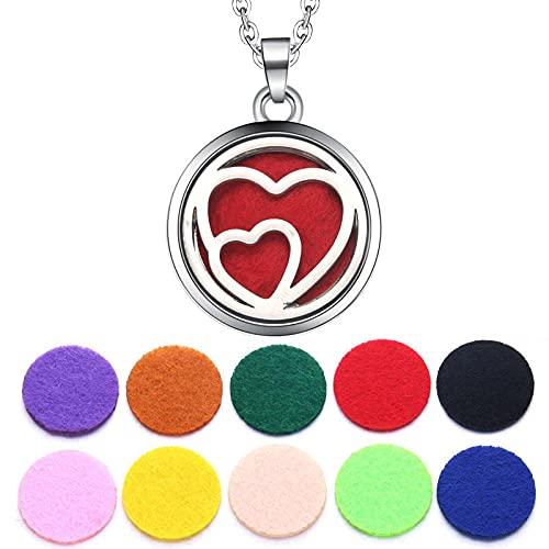 GVRPV Perfume Aromaterapia Collar Difusor Colgante Difusor de Aceite Esencial Collar Señora Gift-N2145-25-dz1
