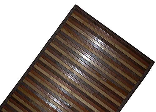 DEMONA TAPPETI Bamboo Bambu Varie Misure E Colori Legno PEDANA Moderno STUOIA Bagno Cucina CORRIDOIO Ingresso Design Impermeabile Antiscivolo TAPPETINI SPEDIZIONE Gratuita Offerta (NMB4, 50X180CM)