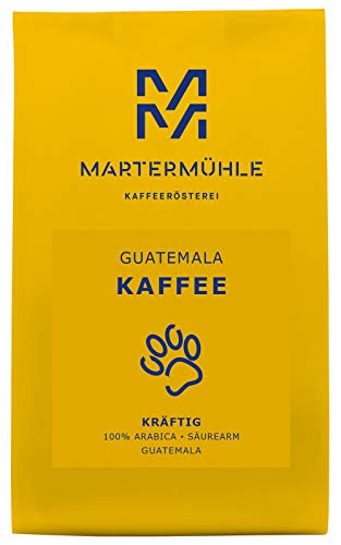Martermühle | Kaffee Guatemala (1kg) | Ganze Bohnen | Premium Kaffeebohnen aus Guatemala | Schonend geröstet | Kaffee säurearm | 100% Arabica