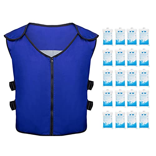 SYCOOVEN Summer Cooling Vest with Ice Bags for Men and Women Outdoor Fishing Cycling Gardening...