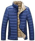 ZSHOW Men's Packable Down Puffer Jacket Warm Windproof Winter Coat(Blue,Large)