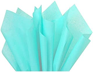 Flexicore Packaging | Aqua Teal Gift Wrap Tissue Paper | Size: 15 Inch X 20 Inch | Count: 10 Sheets | Color: Aqua Teal | DIY Craft, Art, Wrapping, Crepe, Decorations, Pom Pom, Packing & Party