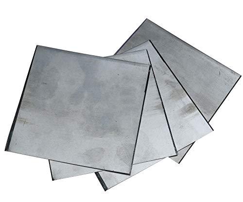 5pcs Zink Platte Flach Blech für Wissenschafts Labor 140x140x0.2mm hoher Reinheit zum Basteln & Haushalt & Werkstatt