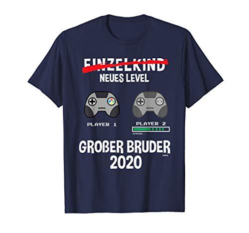 Großer Bruder 2020 Geschenk Geschwister Ankündigung Geburt T-Shirt