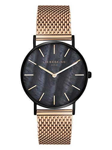 Liebeskind Berlin Damen Analog Quarz Armbanduhr mit Edelstahlarmband LT-0145-MQ