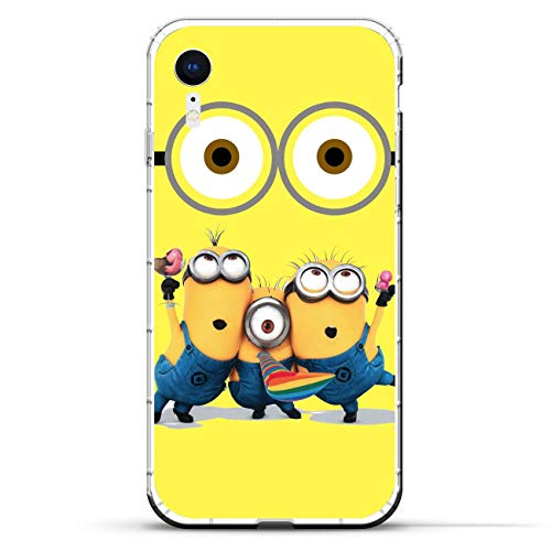Geardurr Slim Clear Coque Anti-Yellowing TPU Soft Cover Anti-Shock Soft Silicone Case For Apple iPhone XR-Minions-Funny 9