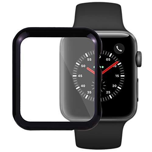 SmartProtectors! Cover Hülle Schutzhülle für Frontseite der Apple Watch 3 und Watch 2-42mm Uhr in schwarz