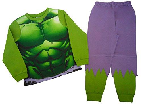 Pijama del increible Hulk para ninos , verde, 5-6 anos