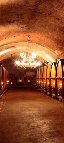 wandmotiv24 Türtapete Weinkeller TT354 90x200cm Tapete Bordeaux Chateau Wein