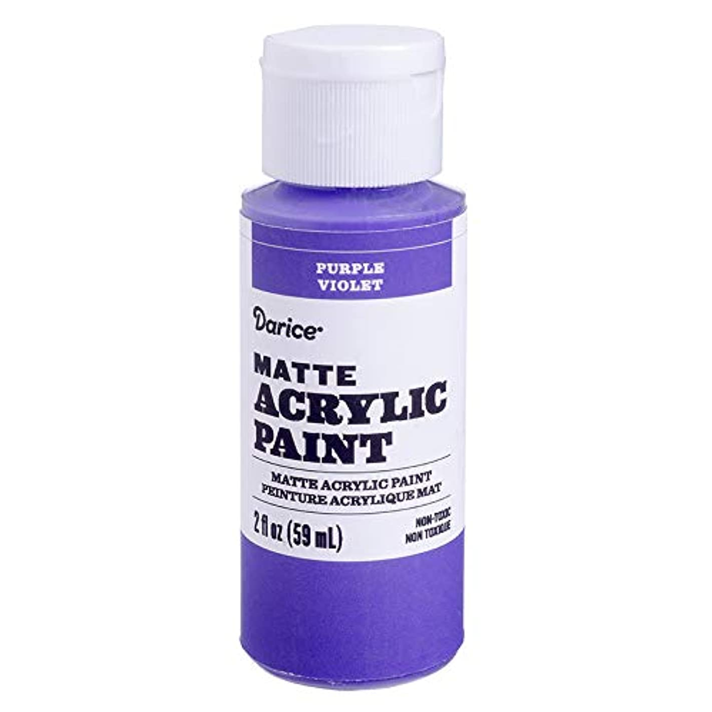 Darice DPCS185-63 Matte Purple, 2 Ounces Acrylic Paint, m95079300080