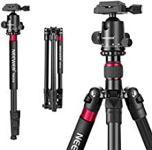 Neewer 2-in-1 Aluminum Alloy Camera Tripod Monopod 66 inches/168 Centimeters with 360 Degree Ball Head 1/4 inch QR Plate and Carry Bag for DSLRs Video Camcorders Load up to 26.5 pound/12 Kilogram