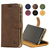 iPhone 11 Pro Leather Case, Luxury Genuine Leather Wallet with...