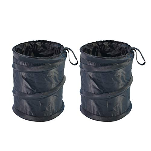 2PCS Portable Car Trash Can, Collapsible Pop-up Car Garbage Can, Leak Proof Car Trash Bag, Waste Basket Rubbish Bin, Multi-Function Car Organizer