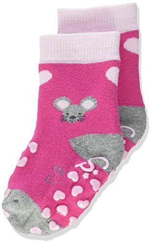 Sterntaler Baby-Boys ABS-Krabbelsöckchen Maus Socks, Magenta, 18
