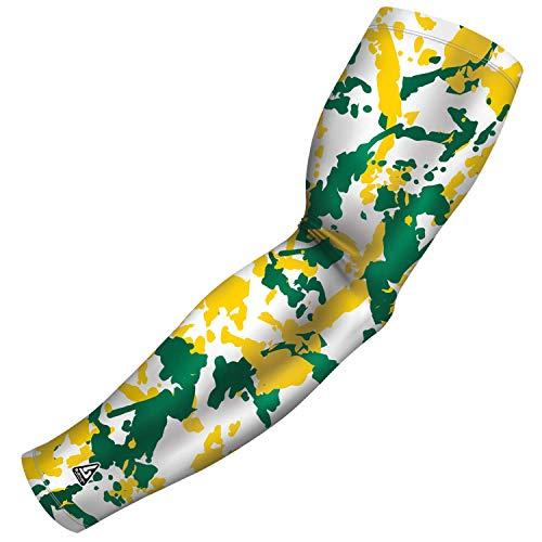 B-Driven Sports Gelbe Armstulpe für Kinder – ideal für Jugendsportarten einschließlich Fußball, Baseball, Basketball – hilft bei der Klimaregulierung, Schweißableitung, Jugend