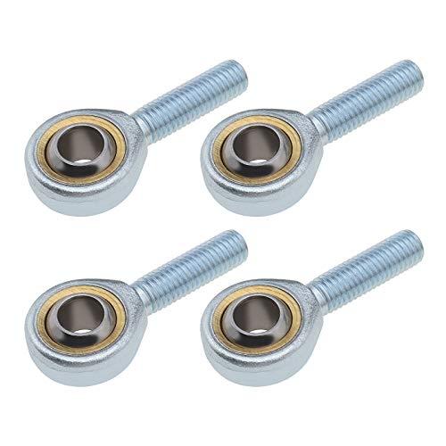 OTOTEC 4 x SA6 T/K Rosen-Dichtung, männlich, Endstück, Kugellager, gerade, M6 x 1,0 mm, Stahl für hydraulische Zylinder, Schmieden, Maschine, Auto, Stoßdämpfer