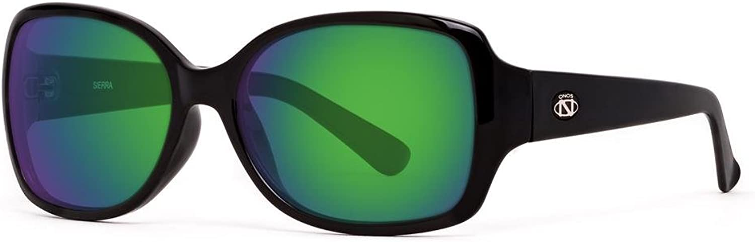 Ono's Performance Sunglas ONO'S SIERRA POLARIZED SUNGLASSES w GREEN MIRROR OVER AMBER PLANO LENS