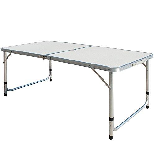 Superworth 4FT 1.2M Folding Camping Table Aluminum Lightweight Extra Strength...