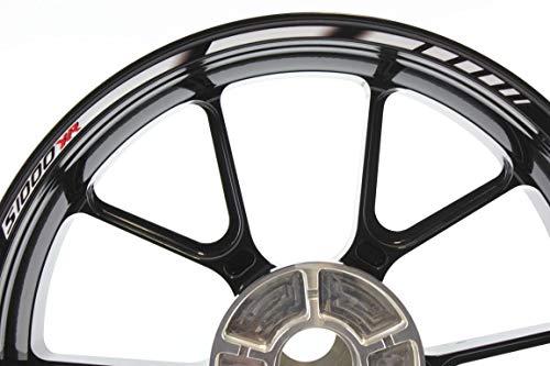 IMPRESSIATA Motorsticker kompatibel für Motorrad Felgenaufkleber SpecialGP Weiß BMW S1000XR