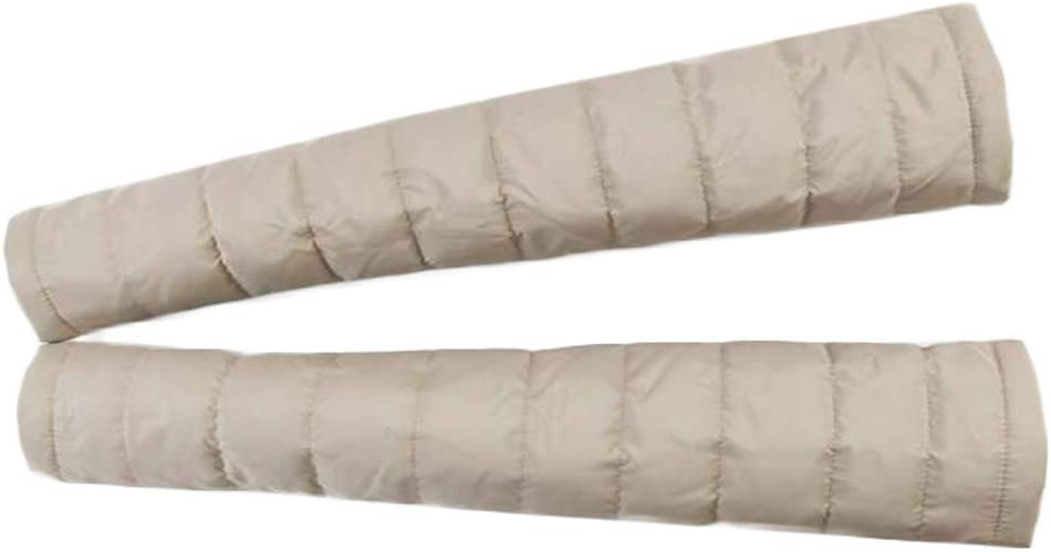 Womens Down Garment Arm Sleeve Long Fingerless Gloves Winter Warm Mittens Arm Warmer, Khaki