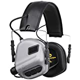 OPSMEN Electronic Shooting Noise Safety Earmuff Sound Amplification Protection Gray