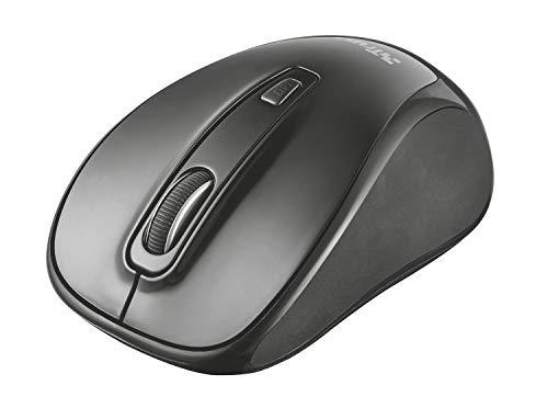 Trust Xani Mouse Ottico Compatto Wireless con Tecnologia Bluetooth, Nero