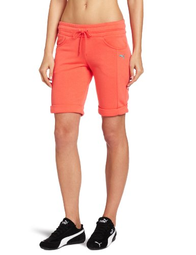 PUMA Damen Sweat Bermuda Shorts - Orange - Klein