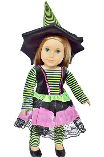 Brittany's My Halloween Witch Costume for 18 Inch Girl Dolls- American Designer