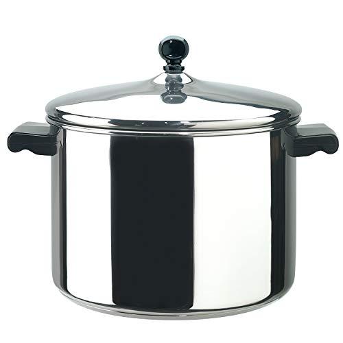Farberware 50006 Classic Stainless Steel 8-Quart Stockpot with Lid, Stainless Steel Pot with Lid, Silver