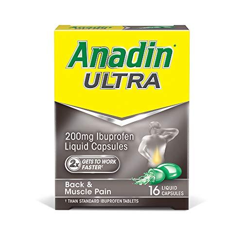 Anadin Ultra Ibuprofen Pain Relief Liquid Capsules - Pack of 16