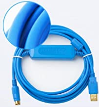 Suitable FATEK FBS Series PLC Programming Cable Communication Data Download line USB-FBS-232P0-9F+ (Blue Color)