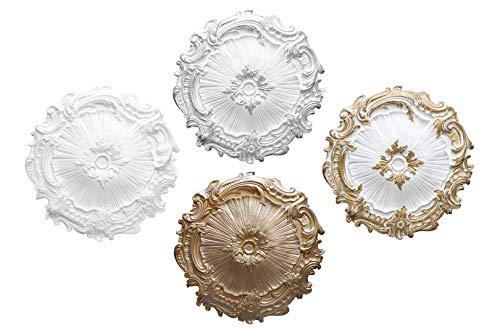 1 rozet | plafond | binnendecoratie | stuck | EPS | decor | 40 cm | R-7 zilver