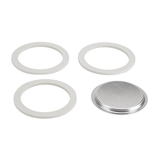 Bialetti Gasket and Filter for Coffee Maker Moka Dama 9 Cup